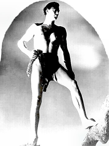 Olympic Champ Johnny Weissmuller as Tarzan