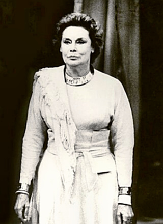 Actress Irene Worth in Coriolanus