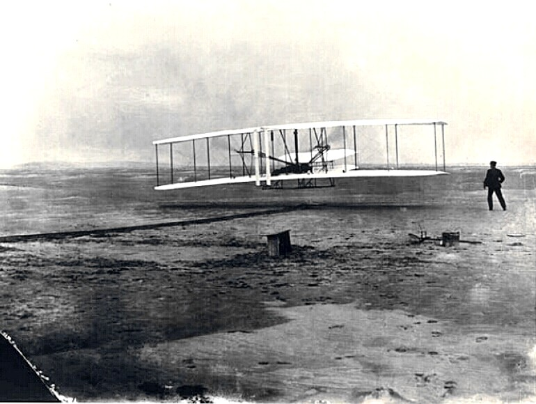 The Wright brothers airplane